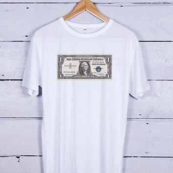 Dollar Bill Tshirt T-shirt Tees Tee Men Women Unisex Adults