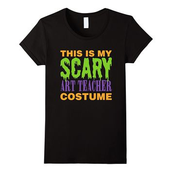 Funny Scary Halloween Costume For Art Teacher Tshirt