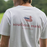 Southern Marsh: Authentic Flag Tee, White