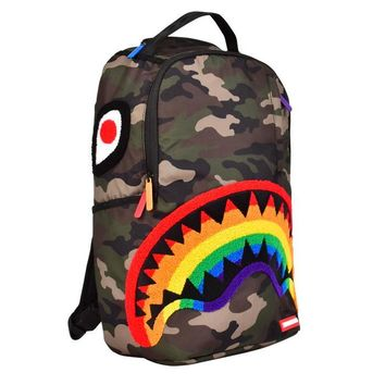 Sprayground - CHENILLE RAINBOW SHARK BACKPACK - Multi