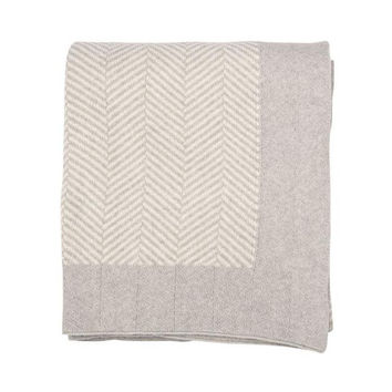 Herringbone Cotton Throw Blanket
