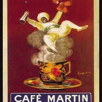 Cafe Martin Vintage Ad Poster by Leonetto Cappiello