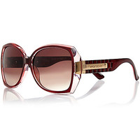 River Island Womens Red square sunglasses