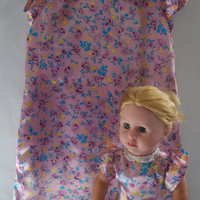 Girls Silky Dress with Matching 18 Inch Doll Dress fits by vw53