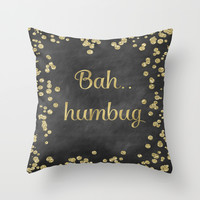 Bah Humbug Throw Pillow by ALLY COXON | Society6