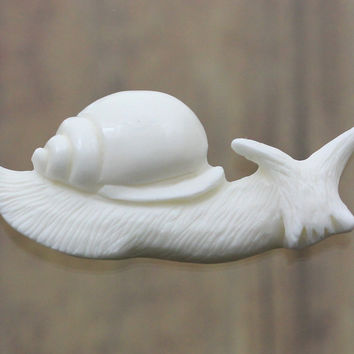 Snail Carving, Bone