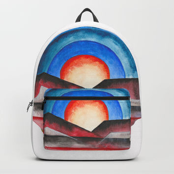 Geometric landscapes 01 Backpack by marcogonzalez