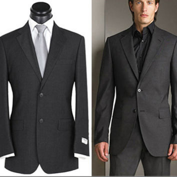 HOT!!2014 brand Business Suit Men's luxury 2 buttons wedding dress Fashion BLAZERS Vest And Pants Set S-4XL Plus Size