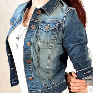Women Casual Long-sleeved Denim Jacket Clothing  1410 = 1929756164