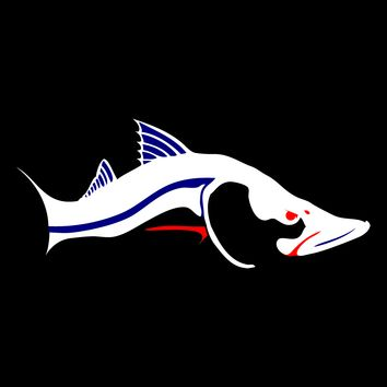 Snook Decal in Red White & Blue