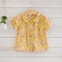 Mariele Yellow Floral Blouse - New Arrivals