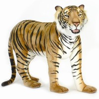 "Hansa 50"" Large Bengal Standing Tiger Stuffed Animal"