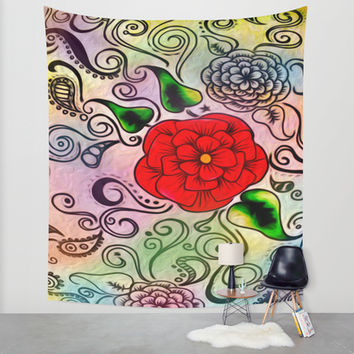 Faux Floral Prism Wall Tapestry by DuckyB (Brandi)