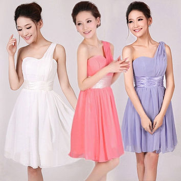Hot Womens Sexy Party Evening Wedding Bridesmaid Prom Ball Short Dress = 1932489796