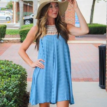 Lift Your Spirits Dress - Blue