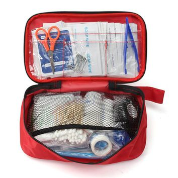 NEW Safurance 180pcs/pack Safe Outdoor Wilderness Survival Travel First Aid Kit Camping Hiking Medical Emergency Treatment