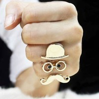 Cute Chaplin Adjustable Ring from looback