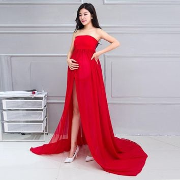 Elegant Maternity Photography Props Pregnancy Clothes Maternity Dresses For pregnant Women Photo Shoot Clothing