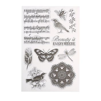 Singing Bird Transparent Clear Silicone Stamp/Seal for DIY scrapbooking/photo album Decorative clear stamp sheets