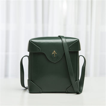 Manu Atelier  Leather Box One Shoulder Bags [6394974660]