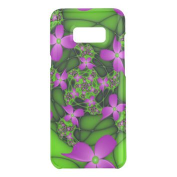 Modern Abstract Neon Pink Green Fractal Flowers Get Uncommon Samsung Galaxy S8 Plus Case