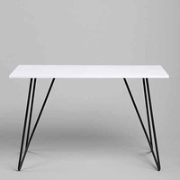 Metal Tubing Desk- Charcoal One