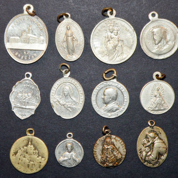 best religious medals antique products on wanelo