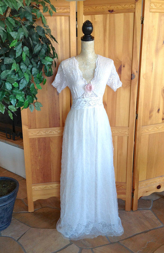 French Lace And Tulle Wedding Dress From HoneyGirlCouture On Etsy