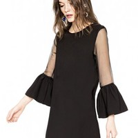 Organza Bell Sleeve Dress