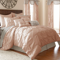 24-Piece Ella Blush Comforter Set Queen