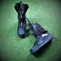 PEAPON6GS Nike SF Air Force 1 High AF1 All Black Women Men Running Sport Casual Boots AA1128-202