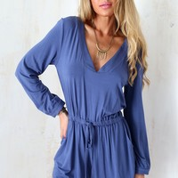 Cairo Playsuit - Indigo | SABO SKIRT