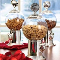 Globe Snack Dispenser with Shiny Globe Finial