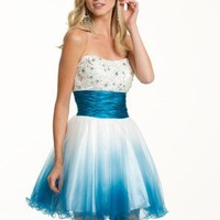 Prom Dresses 2013 - Short Ombre Strapless Dress from Camille La Vie and Group USA