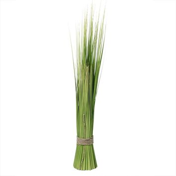 """37.75"""" Green and Yellow Artificial Onion Grass Bundle Wrapped"""