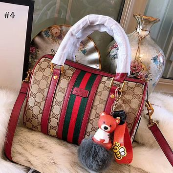 GUCCI 2018 new wild single shoulder diagonal package simple handbag Boston pillow bag #4