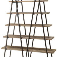 Crestview Ashland Weathered Oak Bookshelf - CVFZR781
