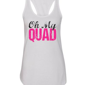 Womens Oh My Quad Grapahic Design Fitted Tank Top