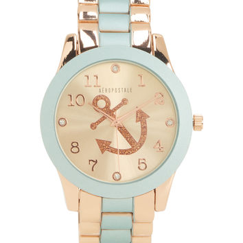 Metal Anchor Boyfriend Watch