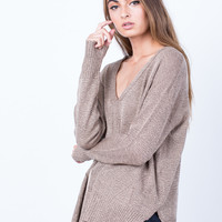 Taupe it Off Sweater Top