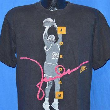 CREYUG7 90s Nike Michael Jordan USA Jump Shot Chicago Bulls t-shirt Large