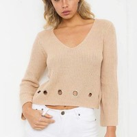 Knit Tops Autumn Strong Character Sweater [11535891078]