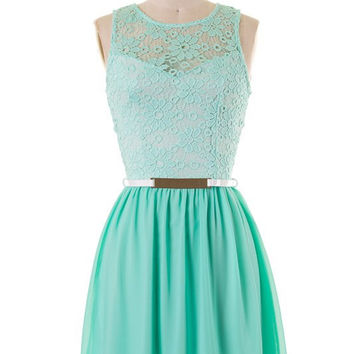 Dining on the Terrace Dress - Mint