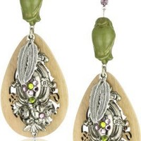 "TARINA TARANTINO ""Dusty Rosaline"" Antiqued Drop Earrings"