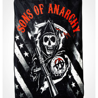 Sons of Anarchy Logo Star & Stripes Fleece Blanket