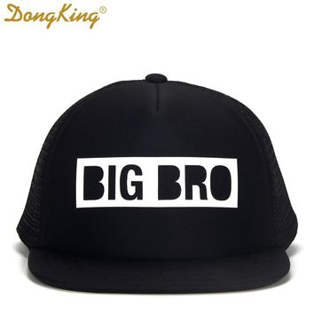 Trendy Winter Jacket DongKing Kids Trucker Hat BIG BRO Cap BIG SIS Hats LIL BRO LIL SIS Snapback Hat Big Brother Big Sister Baby Boy Girl Party Gift AT_92_12
