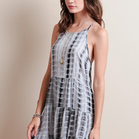 Washed Out Tiered Dress