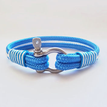 FREE SHIPPING, Nautical bracelet,Sailor Bracelet, Mens bracelet, mens anchor bracelet, surfer bracelet, paracord bracelet,Shackle Bracelet.