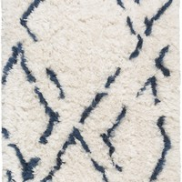 Surya Scout SCO3001 Blue/Neutral Shag Area Rug