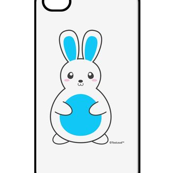Cute Easter Bunny - Blue iPhone 4 / 4S Case  by TooLoud